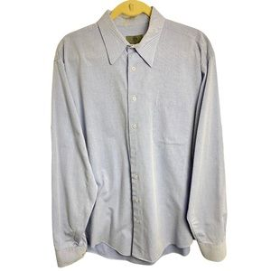 Jhane Barnes Light Blue Cotton Button Front Shirt